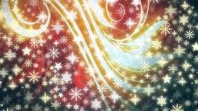 Płatki śniegu i światła royalty ilustracja