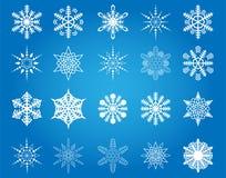 Płatki śniegu inkasowi Zdjęcia Royalty Free