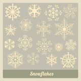 Płatki śniegu inkasowi Zdjęcie Stock
