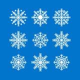 Płatki śniegu nowy rok i boże narodzenie dekoraci elementu projekt Zima płatków śniegu sylwetka Płatki śniegu ustawiają białego k zdjęcia royalty free