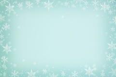 Płatki śniegu obramiają tło Zdjęcia Stock