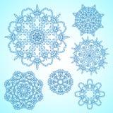 Płatki śniegu ustawiający Zdjęcia Stock