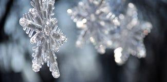 Płatki śniegu; Zamyka up Bożenarodzeniowa dekoracja zdjęcia royalty free