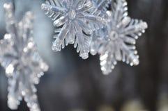 Płatki śniegu; Zamyka up Bożenarodzeniowa dekoracja zdjęcie stock