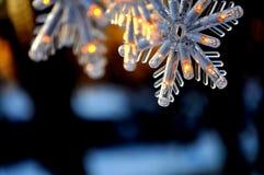 Płatki śniegu; Zamyka up Bożenarodzeniowa dekoracja zdjęcia stock