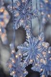 Płatki śniegu; Zamyka up Bożenarodzeniowa dekoracja obrazy stock