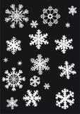 płatki śniegu zbierania białe Obrazy Stock