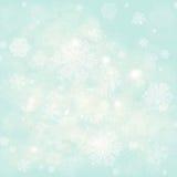 Płatki śniegu, zimy mroźny śnieżny tło royalty ilustracja