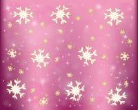 Płatki śniegu, zimy mroźny śnieżny tło ilustracja wektor