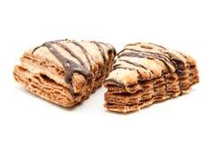 Płatkowaci czekoladowego układu scalonego ciastka Fotografia Stock