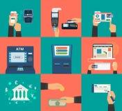 Płatnicze metody ilustracja wektor