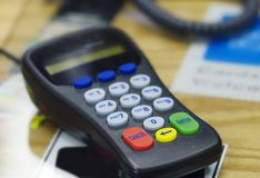 płatności kredytu karty przenośne Zdjęcia Stock