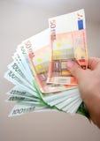 płatności w euro Zdjęcia Stock