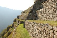 Płatowaci tarasy przy Mach Picchu obrazy stock