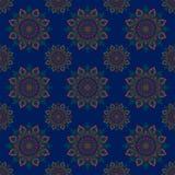 Płatowatego deseniowego liścia kwiatu abstrakcjonistyczny graficzny projekt Obraz Royalty Free