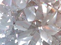 Płatowatej tekstury trójgraniasty diament lub kryształ kształtujemy tło 3d renderingu model royalty ilustracja
