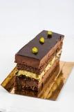 Płatowaty czekolady i pistaci tort zdjęcia stock