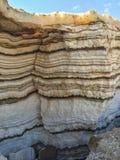 Płatowaty piasek i sól nieżywy morze zdjęcie royalty free