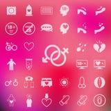 Płci ikona ustawiająca na plam menchii tle Vector/EPS10 Obraz Royalty Free