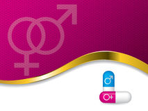 Płci pigułek reklama Zdjęcie Royalty Free