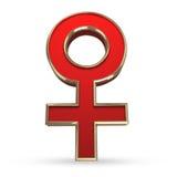 Żeńskiej płci 3D symbol Zdjęcia Stock