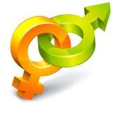 płeć symbole Zdjęcia Stock