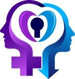 Płeć symbolu logo royalty ilustracja