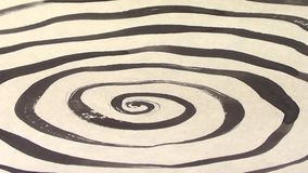 Płodozmienna hipnotyczna spirala, artystyczny atrament i papier, komiczny psychodeliczny styl, 1920x1080 zbiory