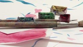 Płodozmienna hipnotyczna spirala, artystyczny atrament i papier, komiczny psychodeliczny styl, 1920x1080 zbiory wideo