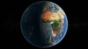 Płodozmienna ziemia 4K - dzień I noc ilustracja wektor