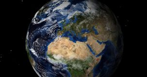 Płodozmienna ziemia w przestrzeni Północna Półkula ilustracja wektor