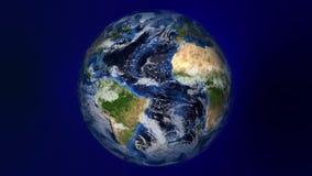Płodozmienna ziemia Z 3D Komputerowym błyskotaniem ilustracji