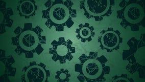 Płodozmienni Graficzni Cogs na zieleni ilustracja wektor