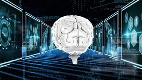 Płodozmienny mózg royalty ilustracja