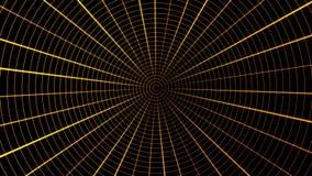 Płodozmienny sieci srebro z lekkimi plamami Pająka ` s sieci animaci pętla Siatka pająka sieci netto tunelowy abstrakcjonistyczny ilustracja wektor