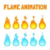 Płomień animacja dla gry ilustracja wektor