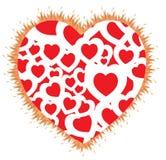 płomień kształt serca Obrazy Stock