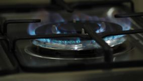 Płomień na benzynowej kuchence zbiory