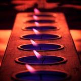 płomień purpury Zdjęcia Stock