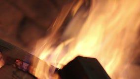 Płomień w kominie zbiory wideo