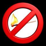 płomień zakazujący znak Fotografia Royalty Free