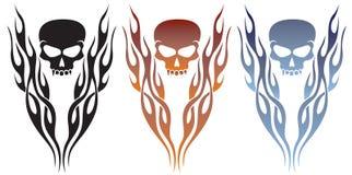 płomieni czaszki tatuaż Obrazy Stock