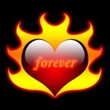 płomieni kierowy miłości valentine Obraz Stock