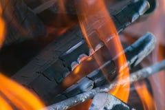 Płomienia ogień Obraz Royalty Free