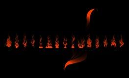 płomienia set zdjęcie stock