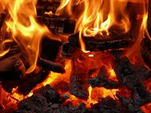 Płomienie zdjęcia stock