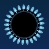 Płomienie gaz royalty ilustracja