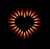 płomienie gazują kuchenka czerwonego wektor ilustracja wektor