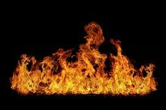 płomienie odizolowywający Fotografia Royalty Free