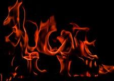 Płomienie ogień na czarnym tle Przestrzeń dla kopii, tekst, twój słowa obraz stock